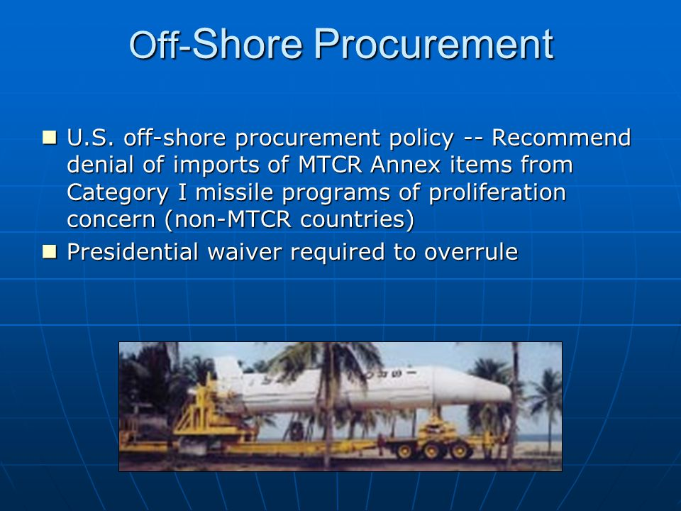 Off-Shore Procurement