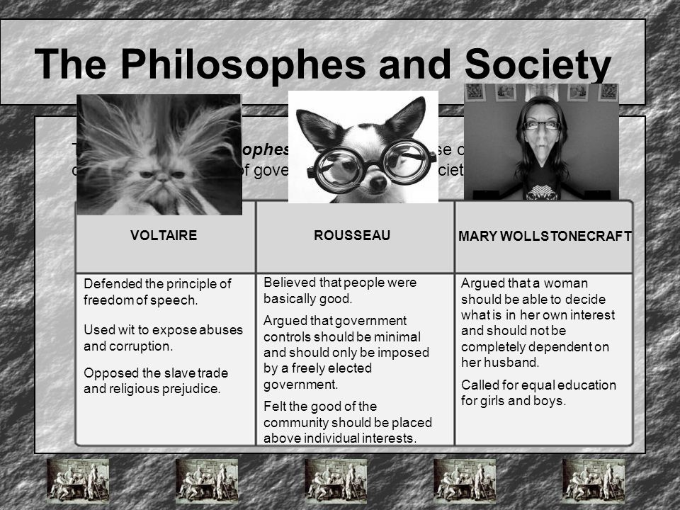 The Philosophes and Society