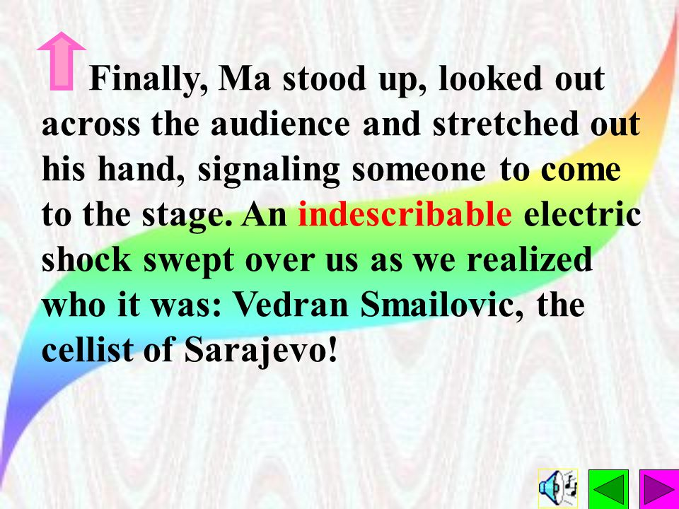Finally, Ma stood up, looked out across the audience and stretched out his hand, signaling someone to come to the stage.