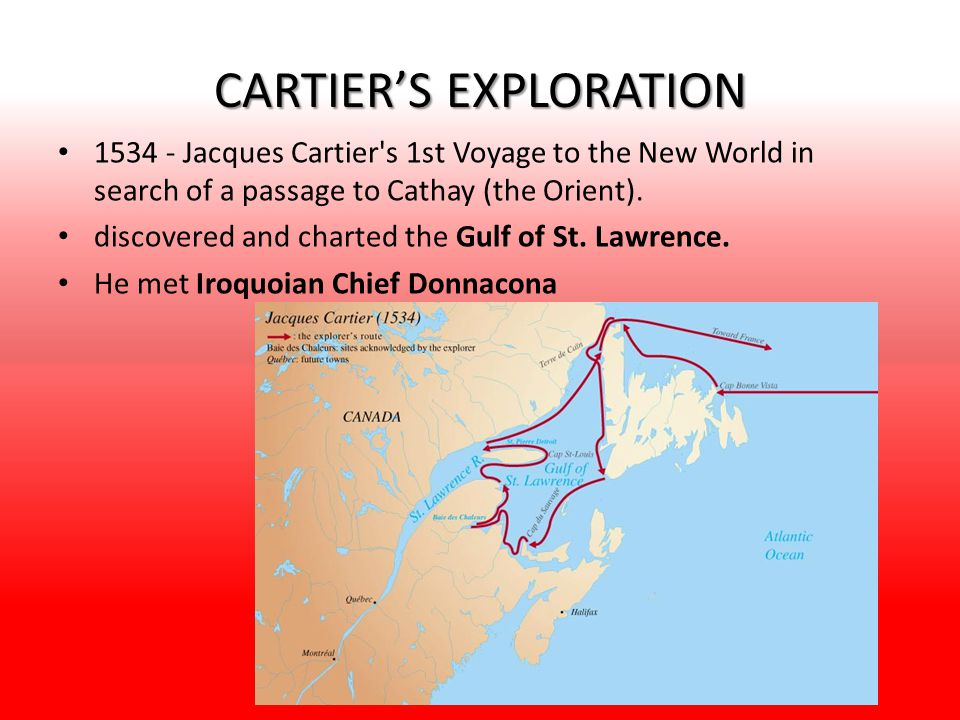CARTIER'S EXPLORATION