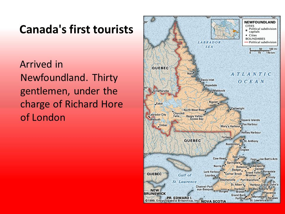 Canada s first tourists