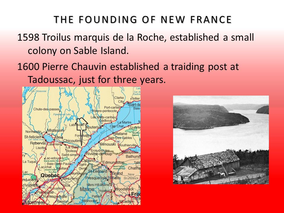 THE FOUNDING OF NEW FRANCE