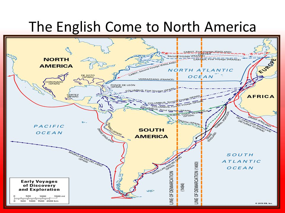 The English Come to North America