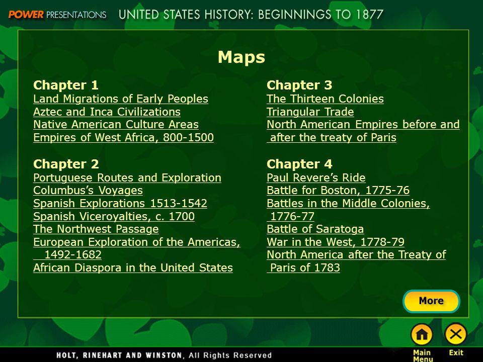 Maps Chapter 1 Chapter 2 Chapter 3 Chapter 4