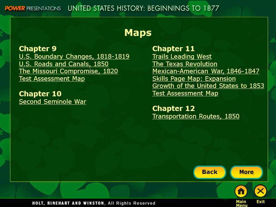 Maps Chapter 9 Chapter 10 Chapter 11 Chapter 12