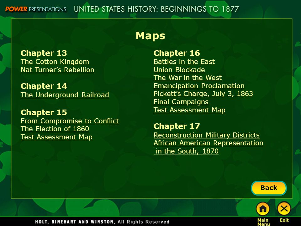 Maps Chapter 13 Chapter 14 Chapter 15 Chapter 16 Chapter 17
