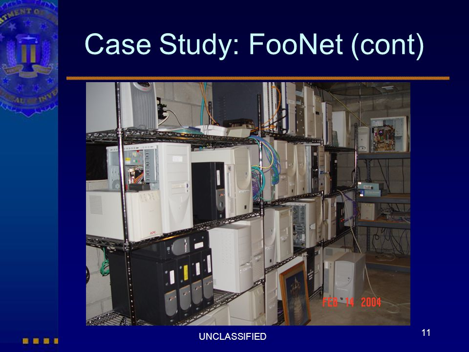 Case Study: FooNet (cont)