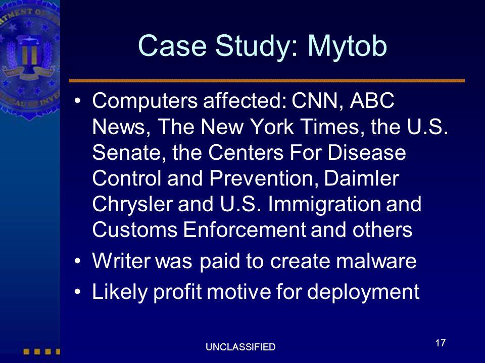 Case Study: Mytob