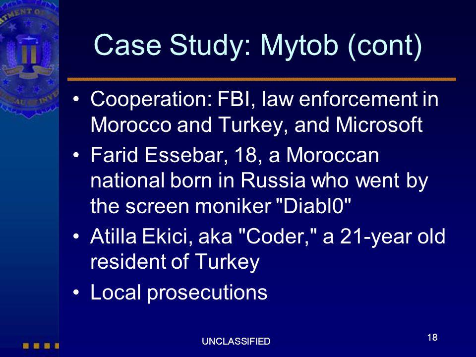 Case Study: Mytob (cont)