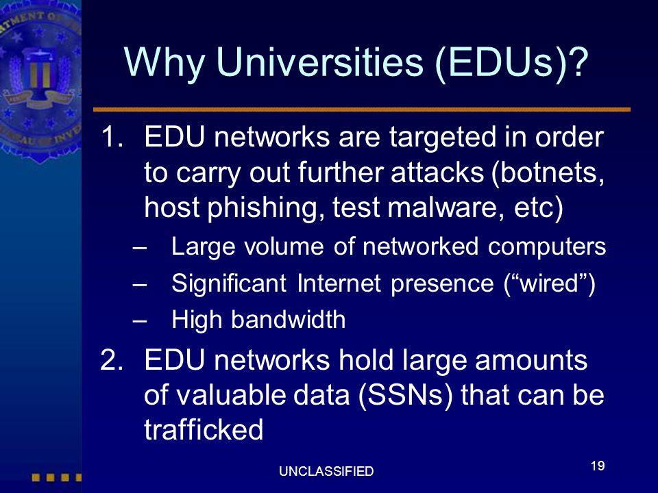 Why Universities (EDUs)