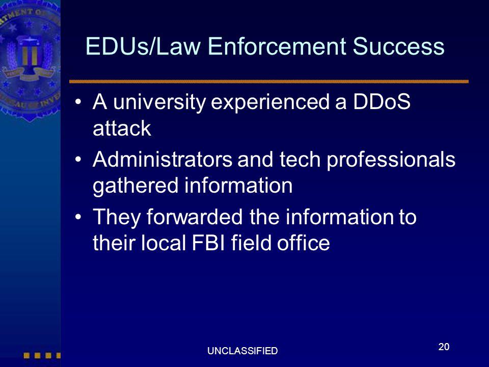 EDUs/Law Enforcement Success