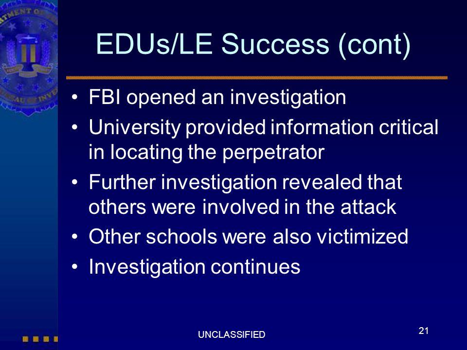 EDUs/LE Success (cont)