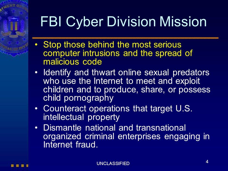 FBI Cyber Division Mission