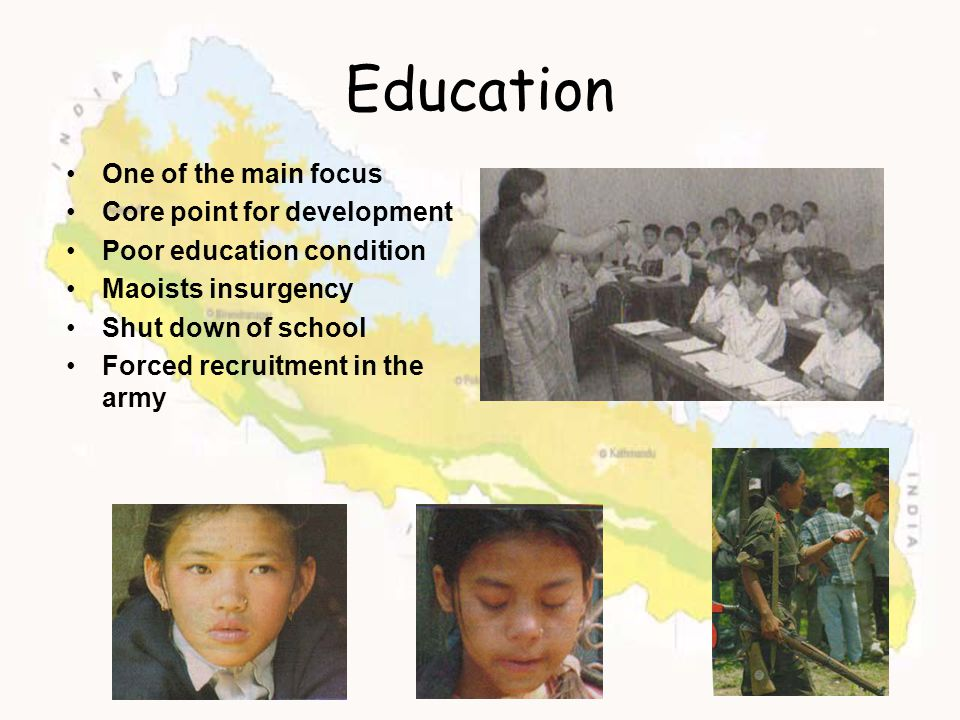 Education One of the main focus Core point for development