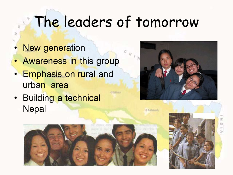 The leaders of tomorrow