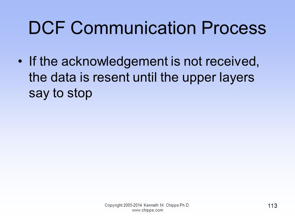 DCF Communication Process