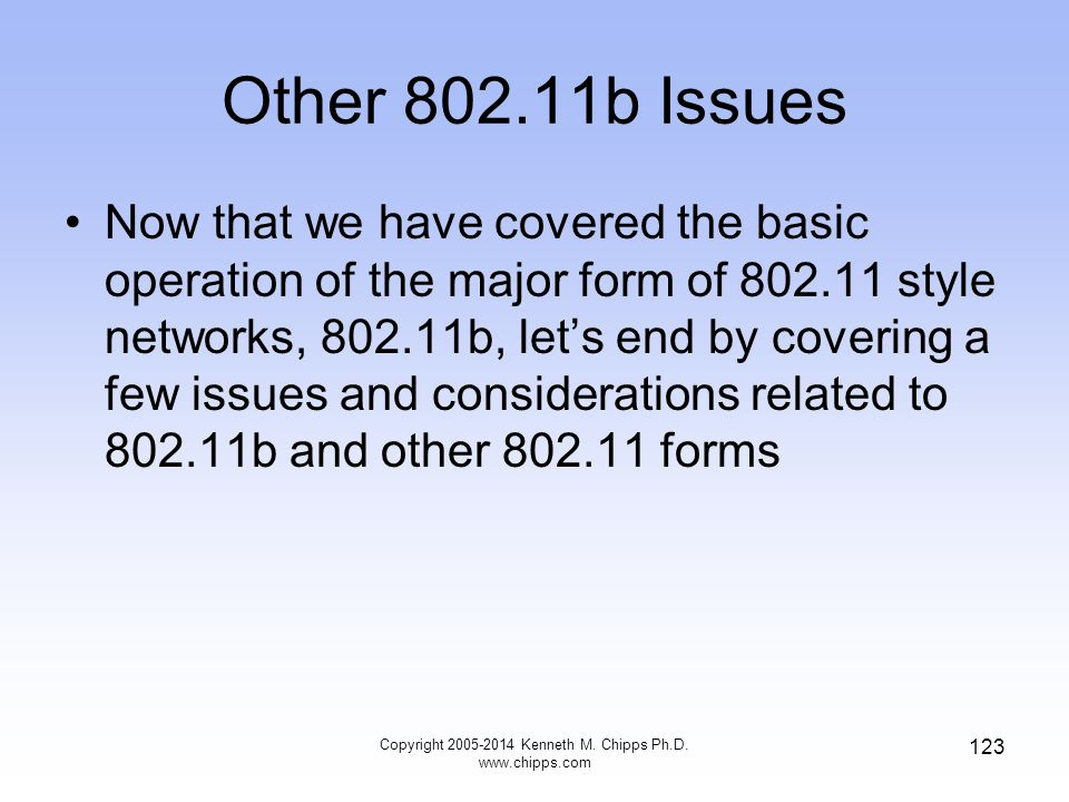 Copyright 2005-2014 Kenneth M. Chipps Ph.D. www.chipps.com