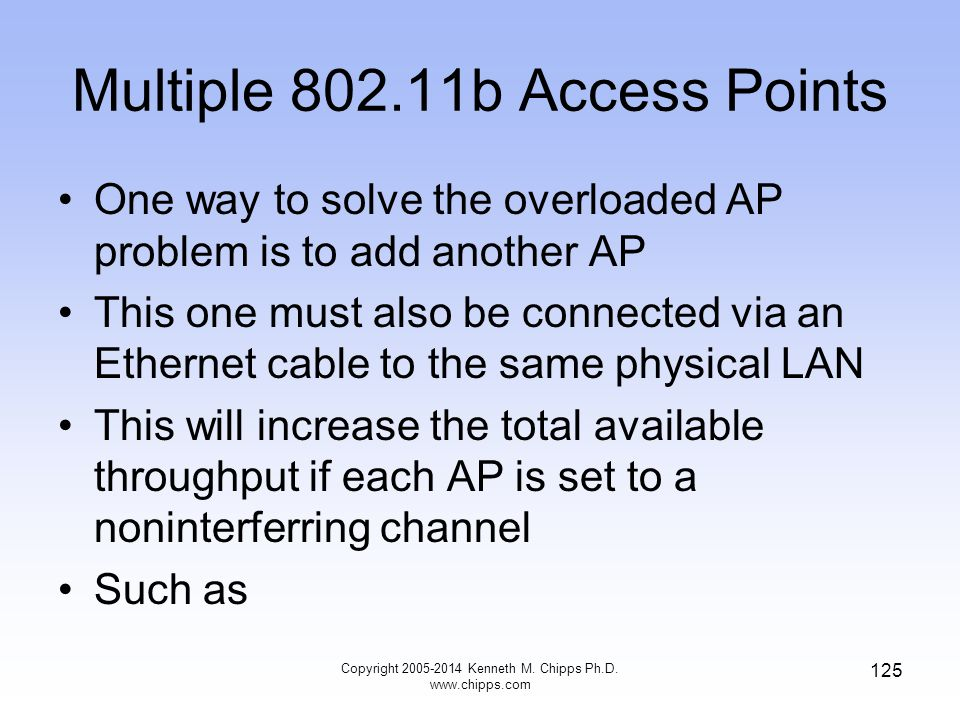 Multiple 802.11b Access Points