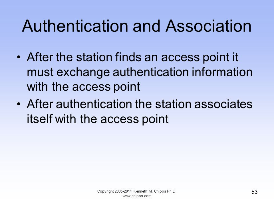 Authentication and Association