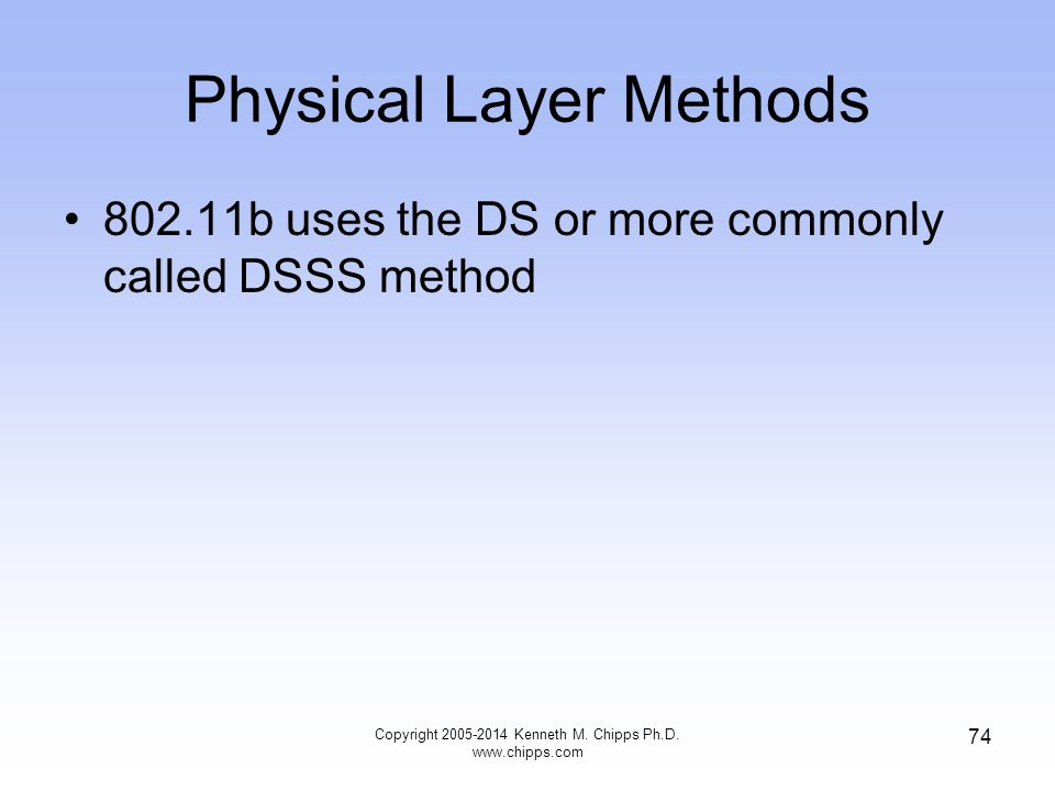 Physical Layer Methods