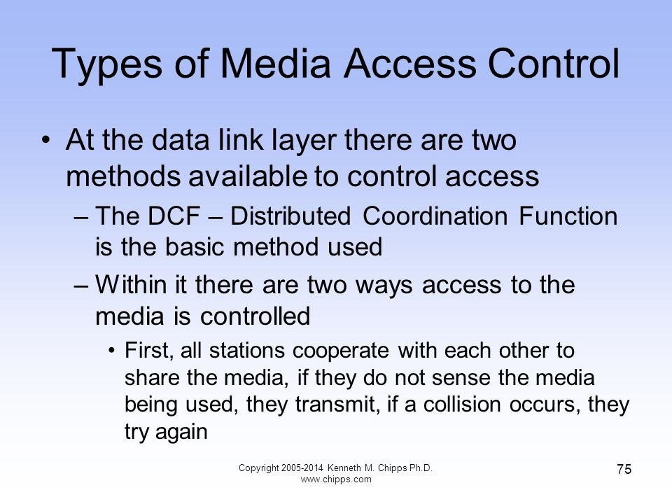 Types of Media Access Control