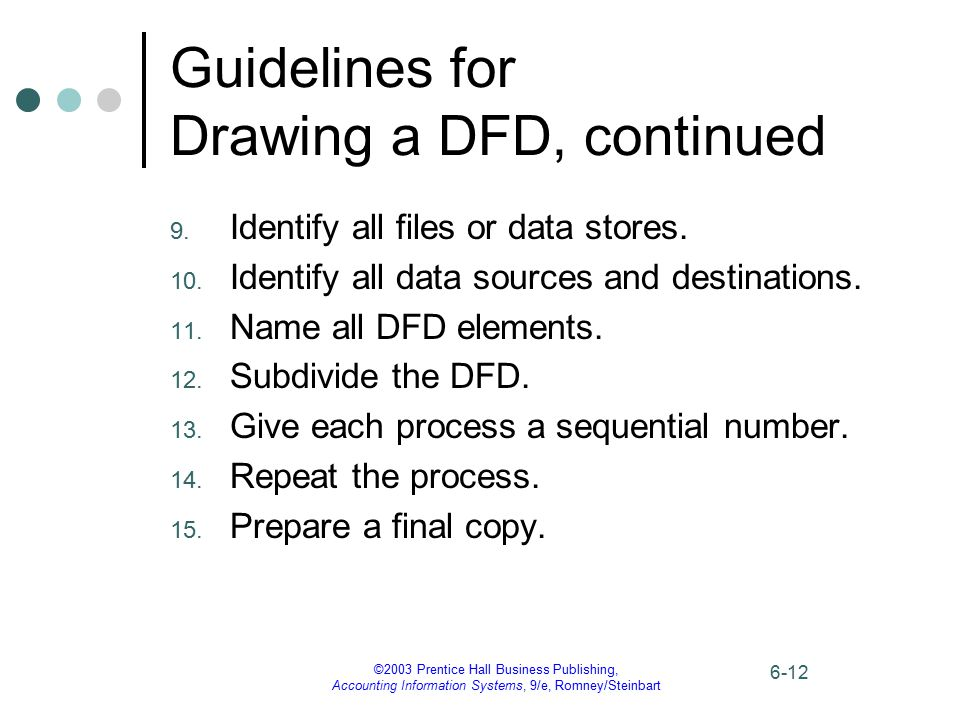 Guidelines for Drawing a DFD, continued