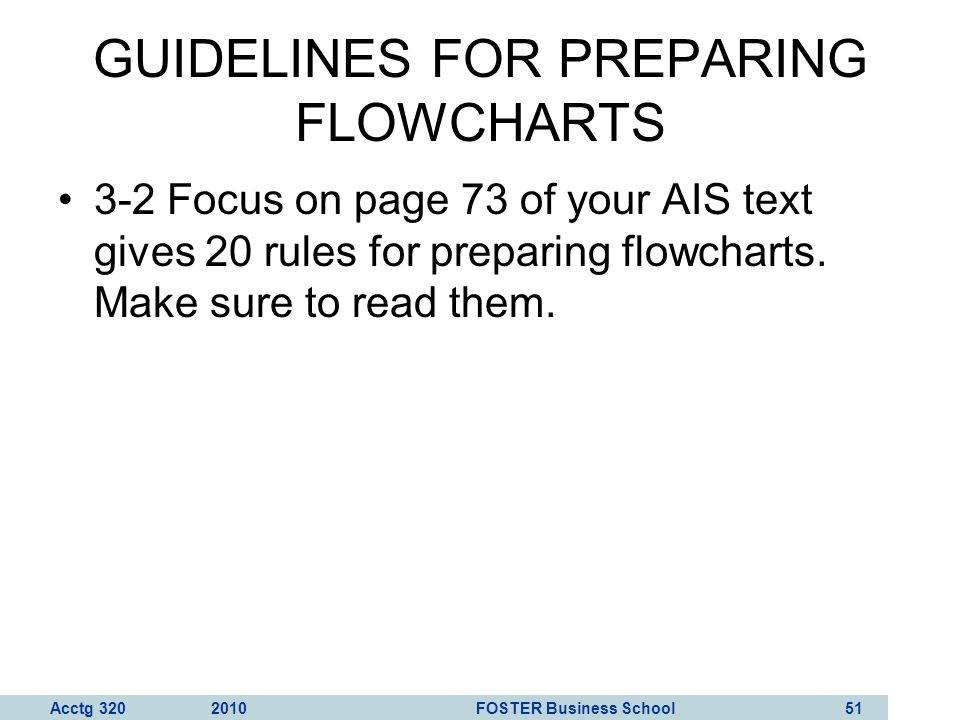 GUIDELINES FOR PREPARING FLOWCHARTS