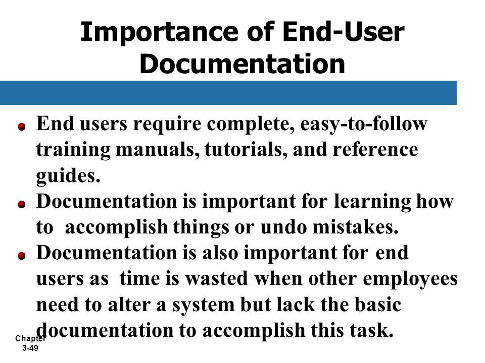 Importance of End-User Documentation