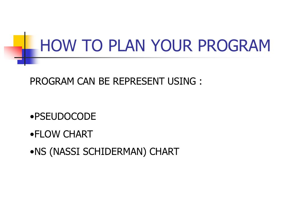HOW TO PLAN YOUR PROGRAM