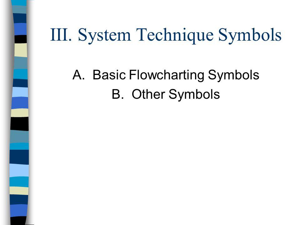 III. System Technique Symbols