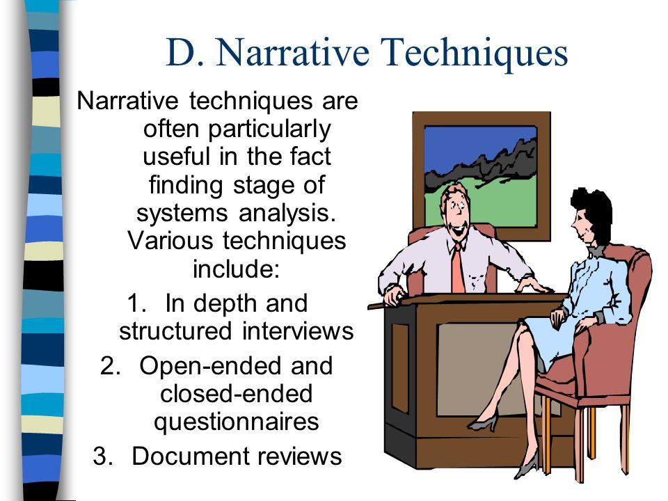 D. Narrative Techniques