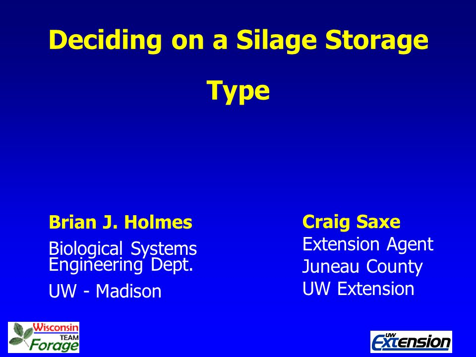 Deciding on a Silage Storage Type