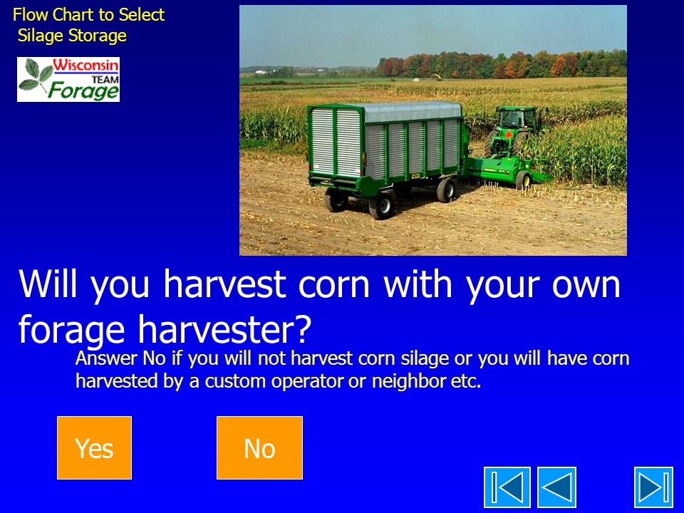 Will you harvest corn with your own forage harvester