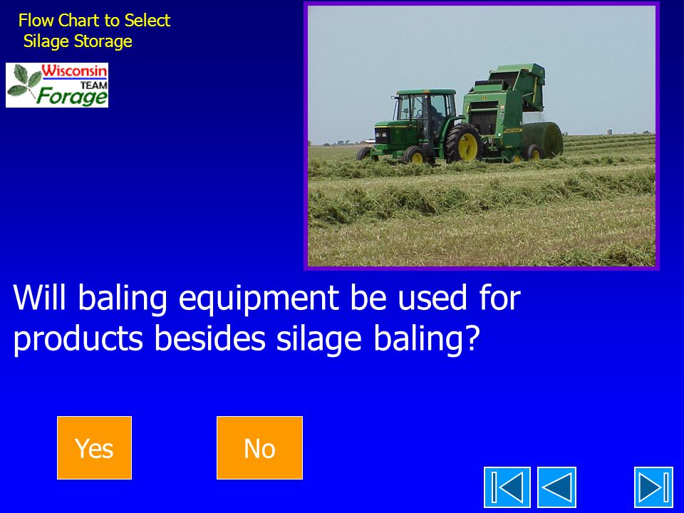 Will baling equipment be used for products besides silage baling