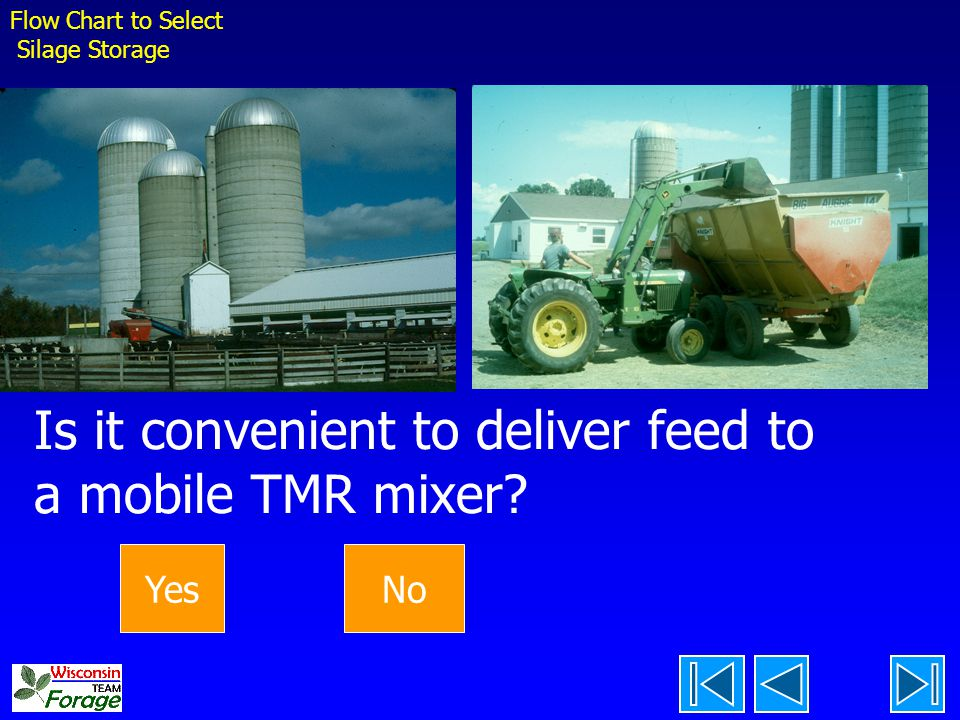 Is it convenient to deliver feed to a mobile TMR mixer