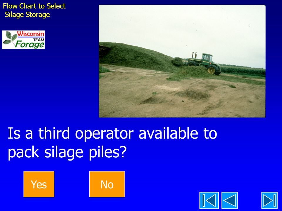 Is a third operator available to pack silage piles