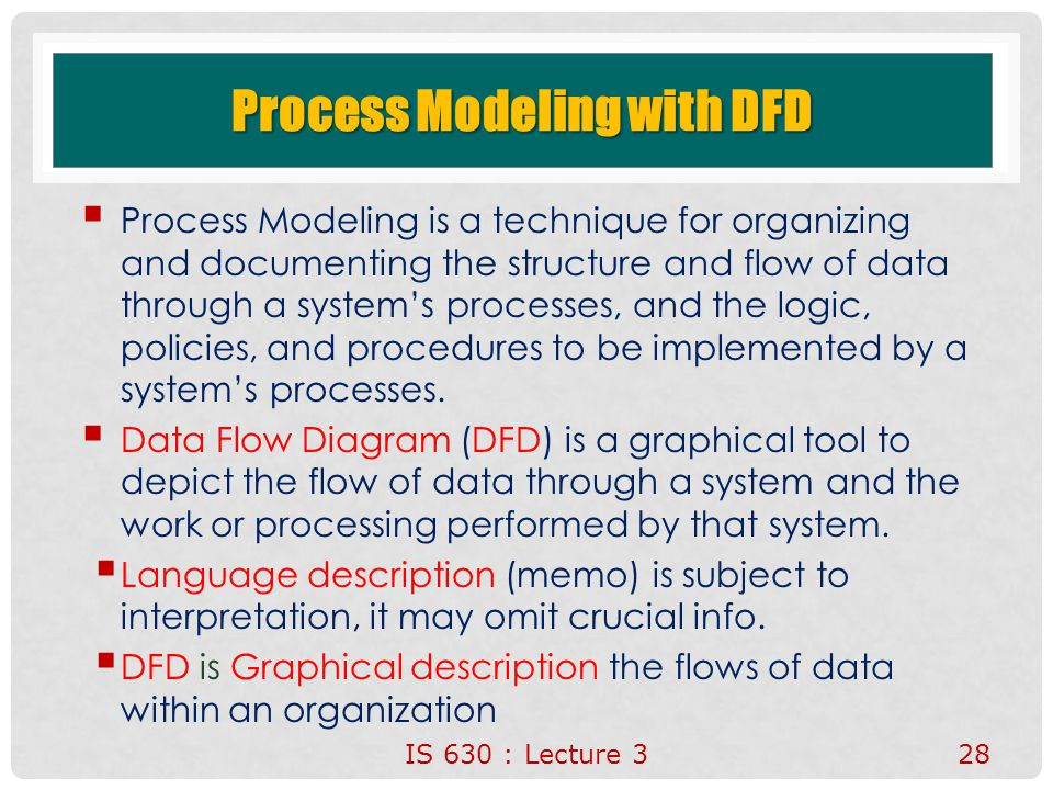 Process Modeling with DFD