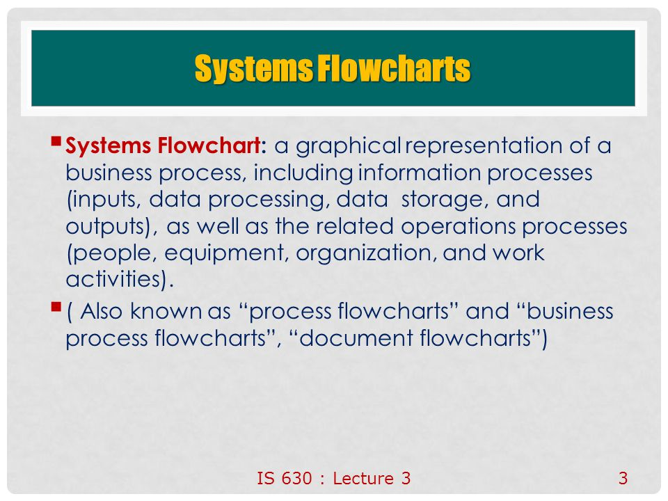 Systems Flowcharts