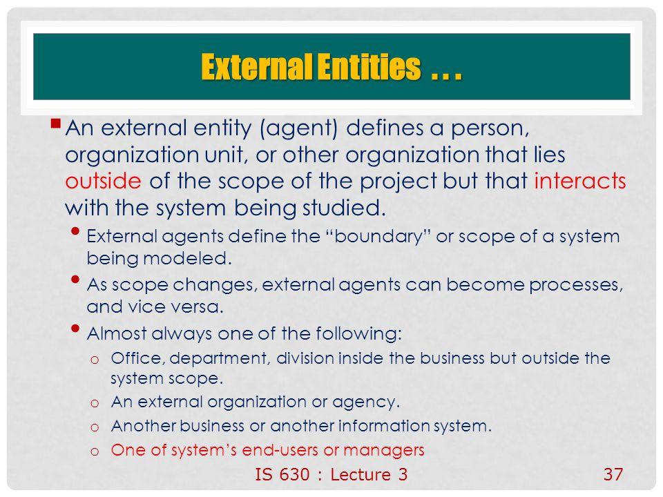External Entities . . .