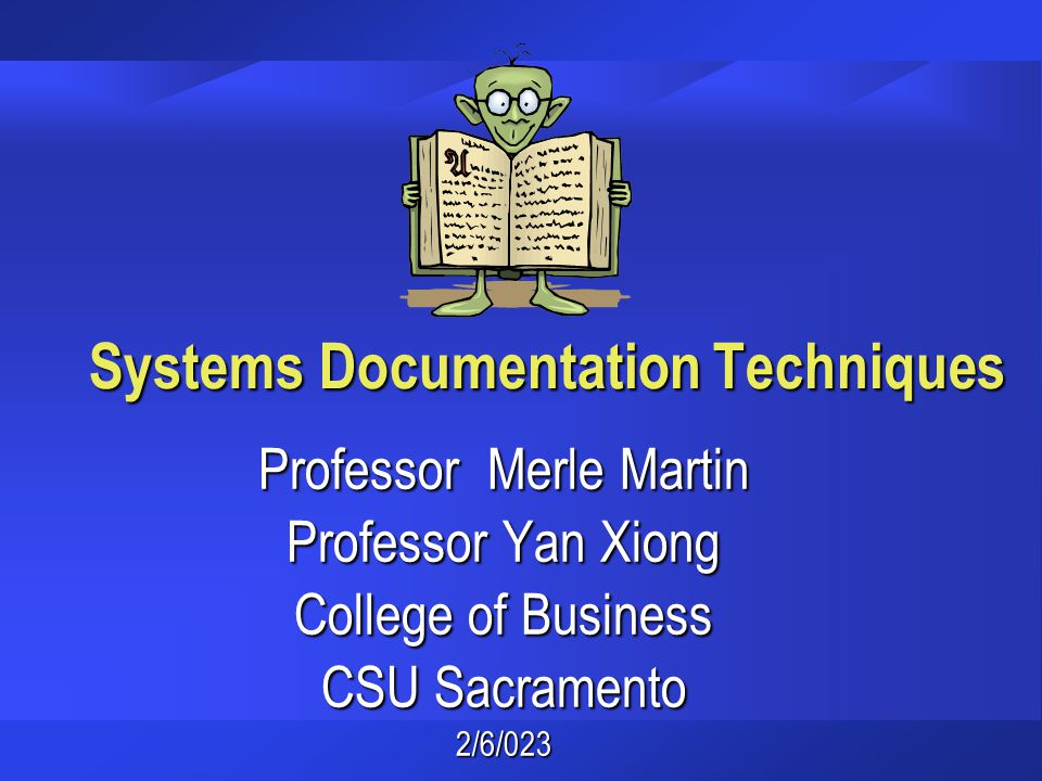 Systems Documentation Techniques