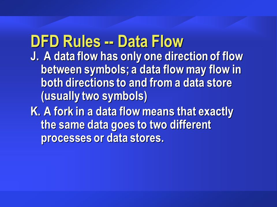 DFD Rules -- Data Flow