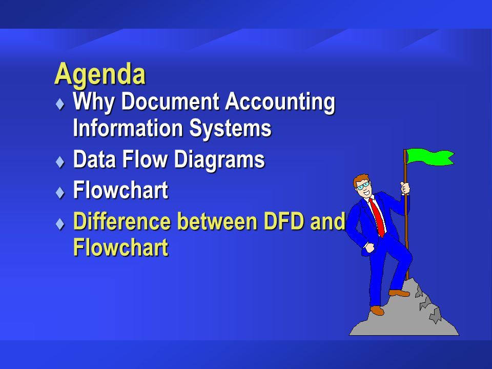 Agenda Why Document Accounting Information Systems Data Flow Diagrams
