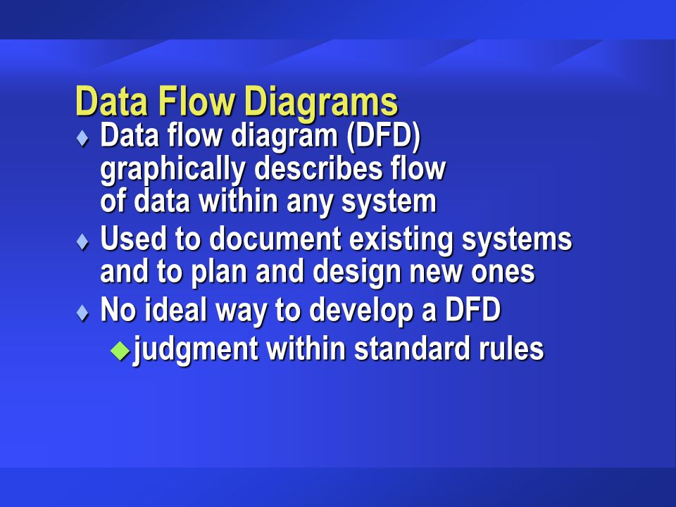 Data Flow Diagrams Data flow diagram (DFD) graphically describes flow of data within any system.