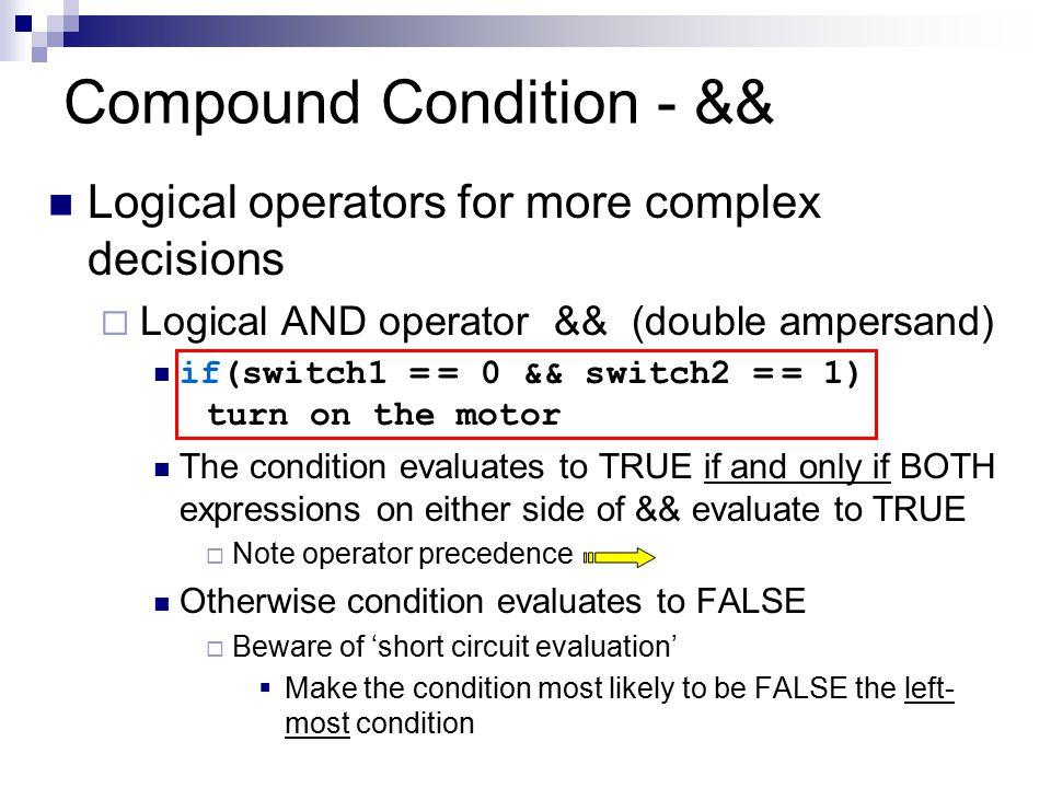 Compound Condition - &&