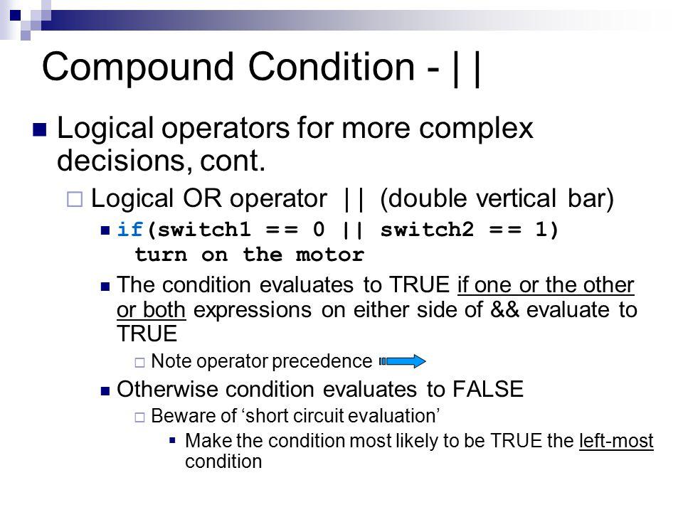 Compound Condition - | |