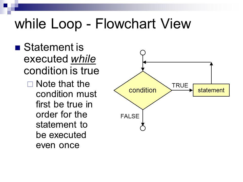 while Loop - Flowchart View
