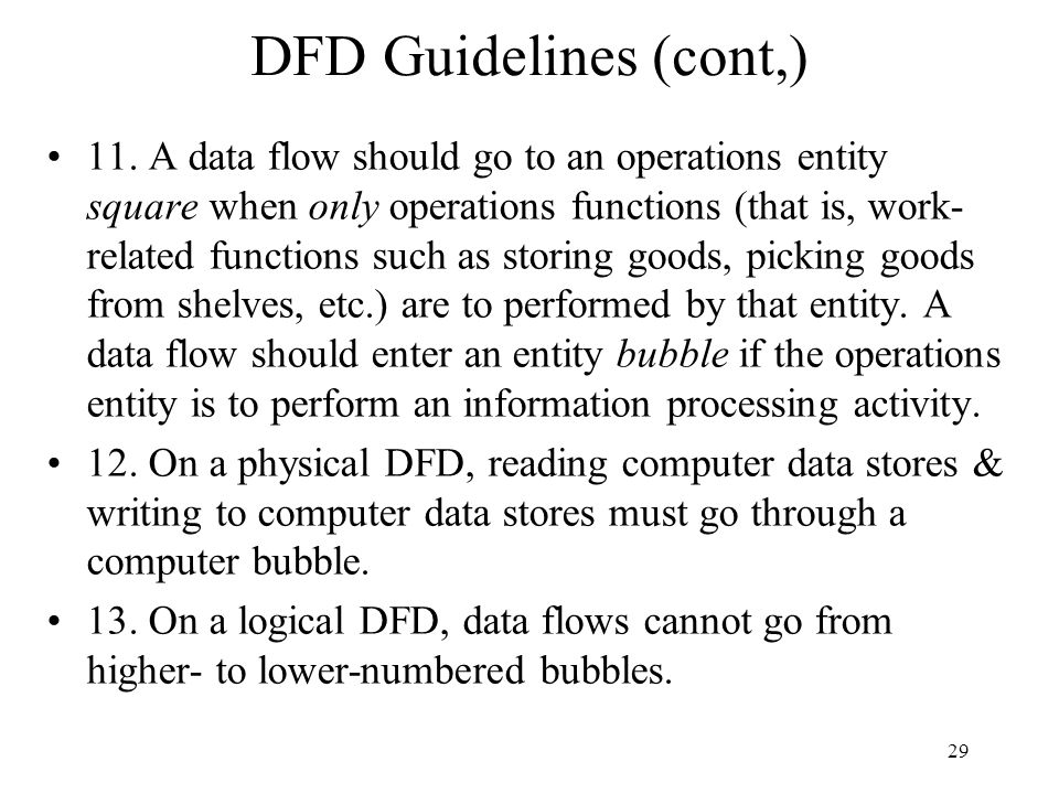 DFD Guidelines (cont,)
