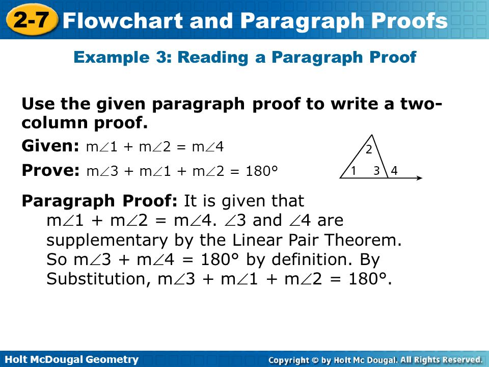Example 3: Reading a Paragraph Proof