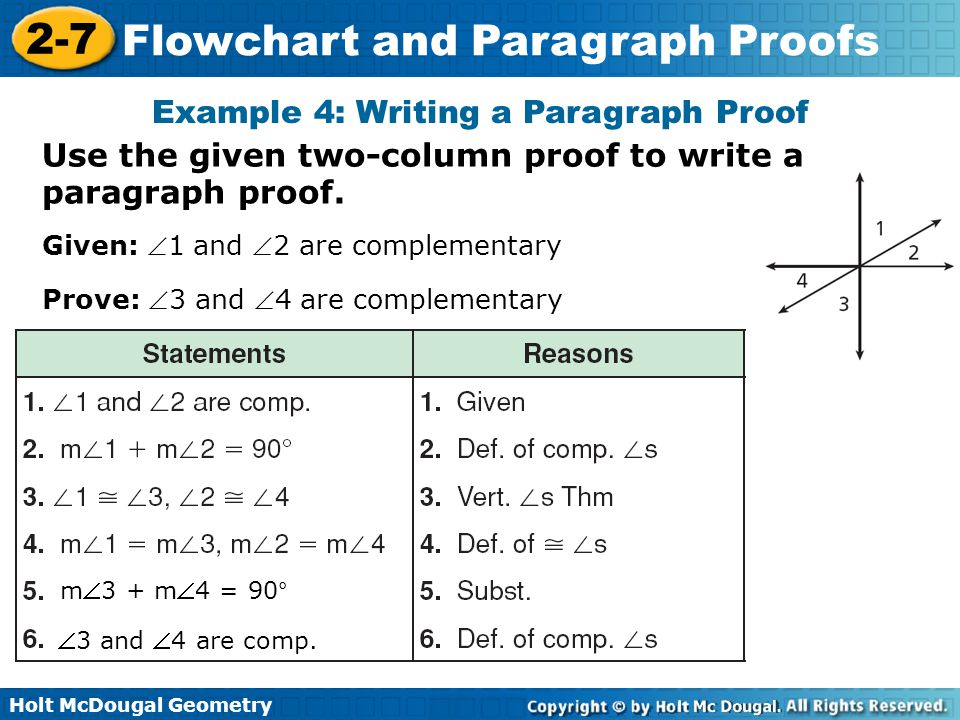 Example 4: Writing a Paragraph Proof