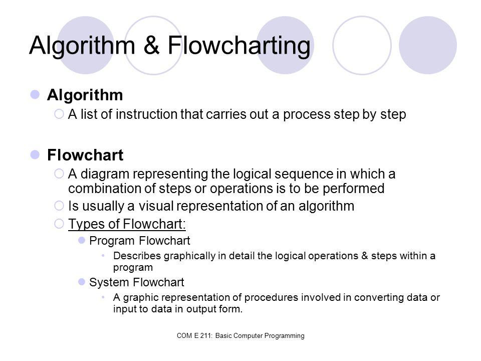 Algorithm & Flowcharting